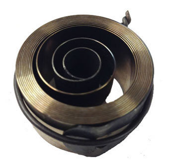 Measuring the Hole End Mainspring - Removing a clock mainspring barrel