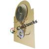 1161-853 Clock Dial White Floral Calendar